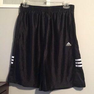 Adidas Black Shorts. Size: Youth XL